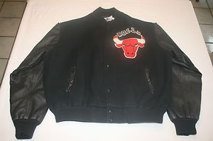 Vtg Chicago Bulls Chalk Line Jacket XL Jordan Era Old School Letterman
