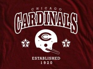 Chicago Cardinals Helmet 1920 Tee Shirt Bears
