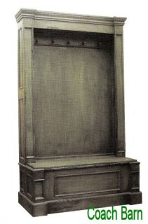Cheltenham Bench Entry Hall Tall Cabinet Distressed Country European