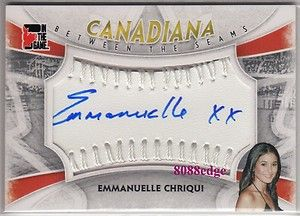 Between The Seams Auto Emmanuelle Chriqui 1 1 Autograph Swatch