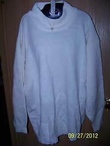 Chereskin Womans New with Tag White Extra Large 18 20 Sweater Top 19c