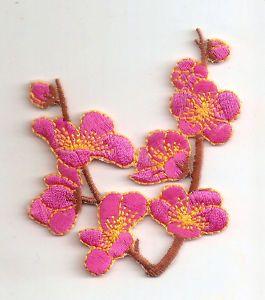 Cherry Blossom Pink Sakura Flower Embroider Iron On