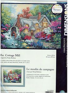 The Cottage Mill Stamped Cross Stitch Kit Dimensions Nicky Boehme NEW