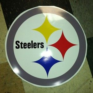 Pittsburgh Steelers Cornhole Board Decals New 14X14