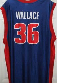 Beautiful Mens NBA x Large Rasheed Wallace Detroit Pistons Jersey No