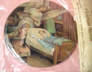 Victorian 3 Compact Mirror Angel Sleeping Child