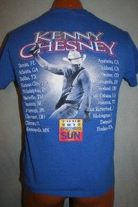 Kenny Chesney 2012 Brothers of The Sun Concert Tour T Shirt Small