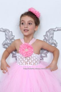 Pink Baby Toddler children pageant Tutu Girls petti dress 1 8Years