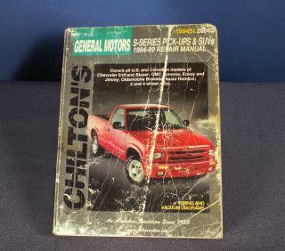 General Motors Chilton 94 99 s Series Pick Up SUVs Repair Manual