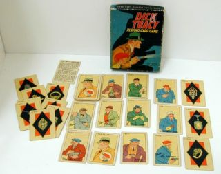 this is the dick tracy playing card game it s no