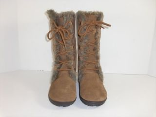 White Mountain Toba 5 5 M Chestnut Brown Suede Winter Boots Womens