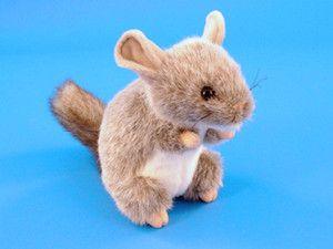 New Dowman Soft Touch 18cm Chinchilla Plush Toy Animal