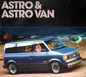 1987 Chevy Astro Van Brochure Astro CS CL Astro Cargo