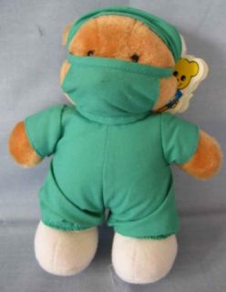 Dakin Stuffed Plush Teddy Bear Surgeon Scrubs Mask