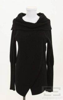 Childress Handloomed Knitwear Ribbed Cowl Neck Cashmere Sweater Size 1