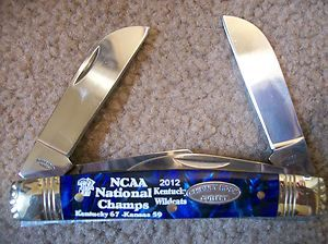 WILDCATS POCKET KNIFE NCAA NATIONAL CHAMPS CHIMNEY ROCK CUTLERY BLUE