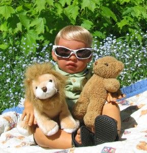 Reborn Toddler Baby Doll Camoflage Sunglasses Sun Glasses Photo Prop