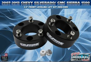 07 12 Chevy GMC Silverado Sierra 1500 2 5 Front Leveling Lift Kit 2WD