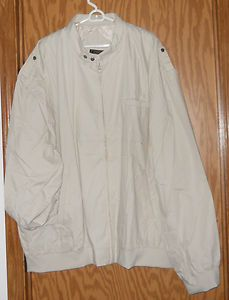 Zip Front Jacket Long Sleeve Cotton Poly 5XL TL Color Chino New