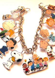 Peanuts Charm Bracelet Snoopy Lucy Linus Charlie Brown