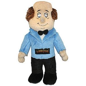 The Three Stooges Larry Talking Pet Chew Toy Soft Plush Doll for Dogs