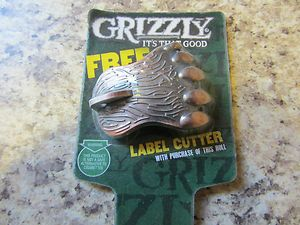 GRIZZLY SMOKELESS TOBACCO SNUFF CHEW DIP CAN OPENER LABEL CUTTER KEY
