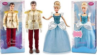 Princess Cinderella Prince Charming Barbie Ken Doll Figure Set
