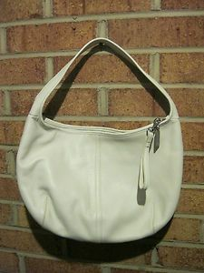 Coach Ergo Hobo White Leather Shoulder Bag Handbag 9219