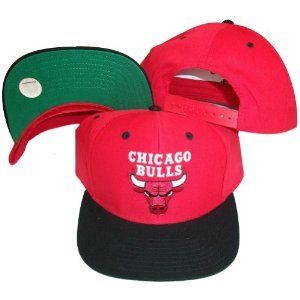 New Chicago Bulls Snapback Hat Two Tone Red Black Green Under Brim