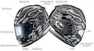 Helmet Arai Chaser Jolly Roger TG XL
