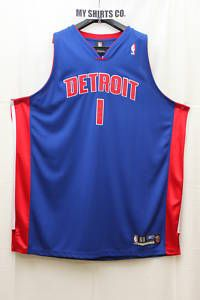 Detroit Pistons Blue Red White Chauncey Billups 1 Authentic Jersey 60