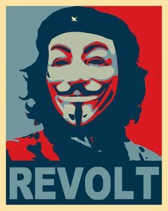 Anonymous Che Guevara Occupy 99 Sticker Decal Revolt