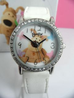 Ladies Childrens Kids Diamante Boofle Watch Snugglesome Pup Girls Xmas