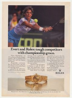 1987 Chris Evert Tennis Rolex Oyster Perpetual Lady Datejust Watch