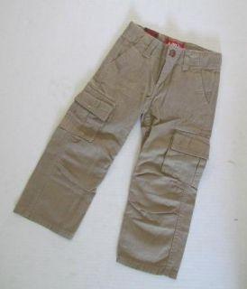 Levis Jeans Khaki Brown Chinchilla Cargo Pants Adjustable Waist Boys