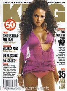 KING MAGAZINE 50th ISSUE CHRISTINA MILIAN MELYSSA FORD 50 CENT STACEY