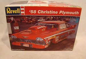 PLYMOUTH FURY CHRISTINE DRAG RACING MODEL CAR MOPAR 58 RACE UNBULT