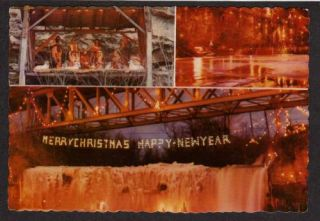 Oh Christmas Lights Display Ludlow Falls Ohio Postcard