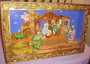 Christmas Nativity Scene Animated Motion Music Box Large