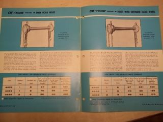Vtg Chisholm Moore Hoist Division Brochure cm Cyclone Model M Catalog
