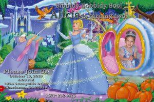 Cinderella Personalized Photo Birthday Party Invitation