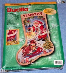 Counted Cross Stitch Christmas Stocking Kit L R L Gillum