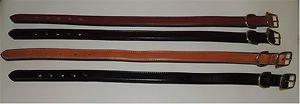 Amish Leather Dog Collar 20 USA Made Tory