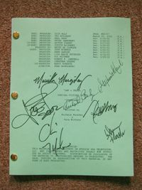 Law & Order SVU entire cast signed script Chris Meloni