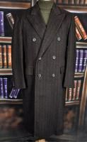 Vintage Chester Barrie Brown Herringbone Wool Cashmere DB Overcoat M