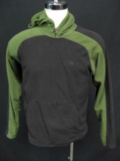 The North Face Chesterton Delta Green Black Mens Fleece Hoodie Jacket