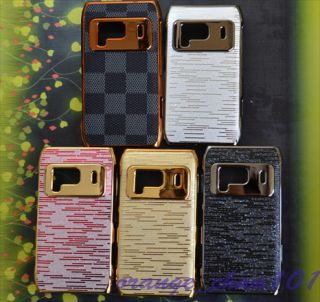 5pcs Chrome Plated Luxury Hard Back Case Cover for Nokia N8