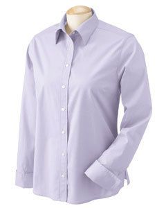 Chestnut Hill Dress Shirt Top Womens Long Sleeve Pima Cotton Poplin