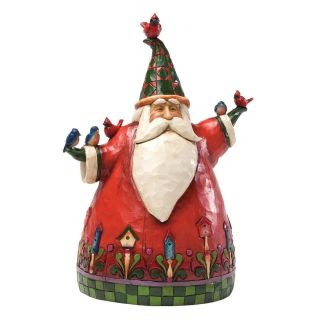 Enesco Jim Shore Heartwood Creek Classic Santa with Birds Figurine