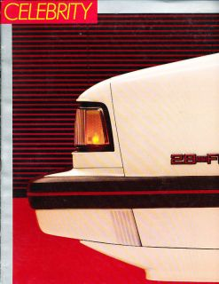 1987 Chevrolet Celebrity Sales Brochure Book Eurosport